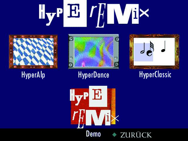 Hyperemix Main Screen